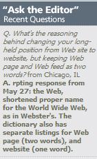 Web site vs website