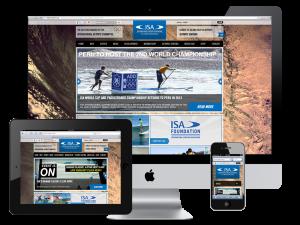 International Surfing Association Responsive Design Website