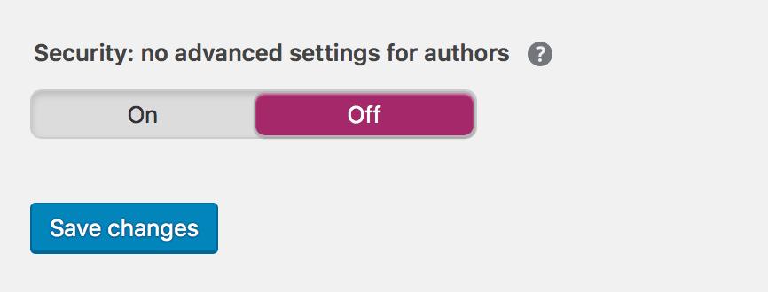 yoast security-settings